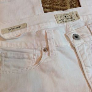 Lucky Brand Brooke Crop Jeans. White 4/27